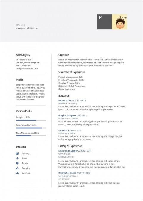 007 Unique Resume Template Word 2016 Design  Cv Microsoft Download Free480