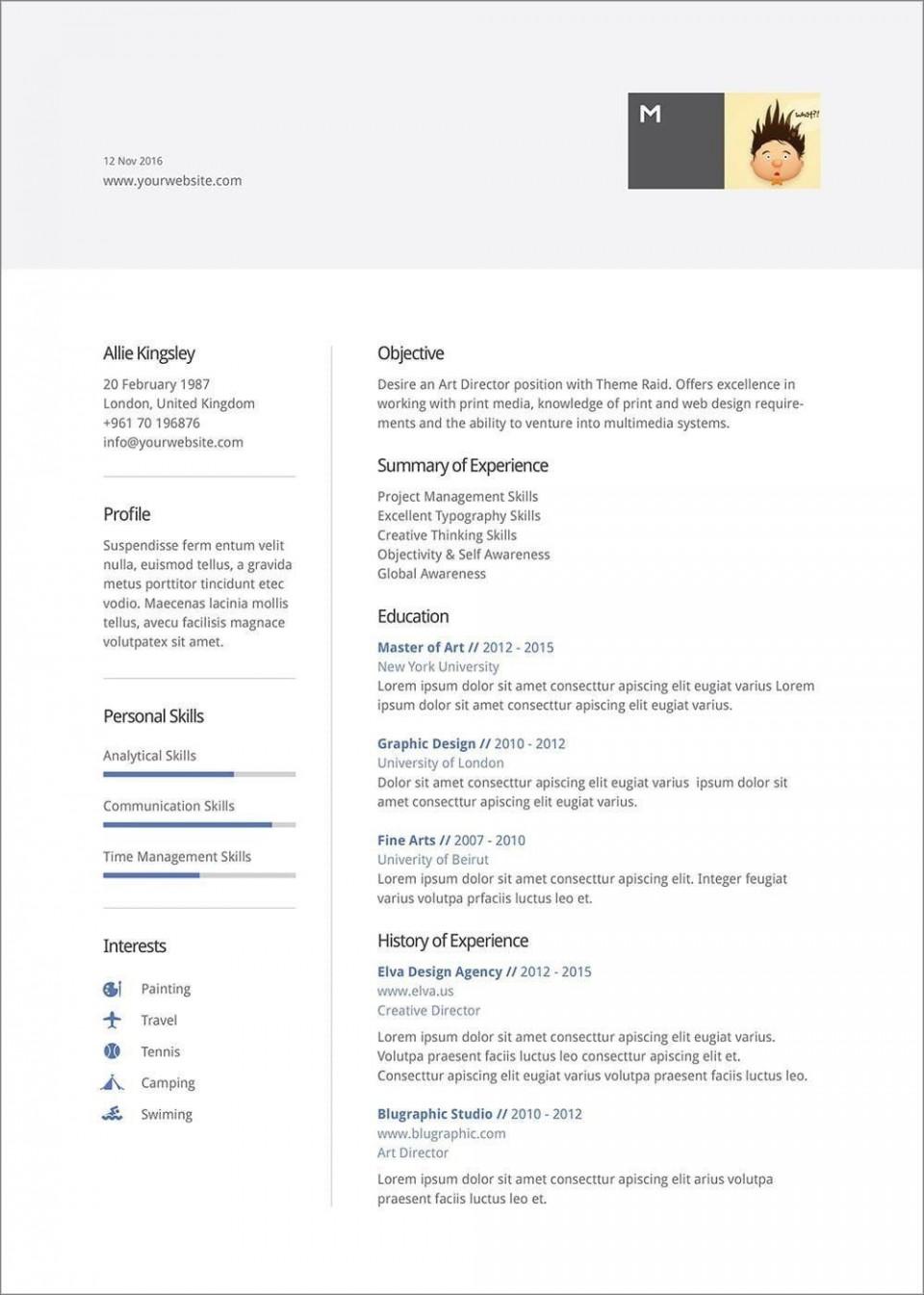 007 Unique Resume Template Word 2016 Design  Cv Microsoft Download Free960