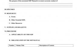 007 Unique Standard Operating Procedure Template Word Idea  Example Free Microsoft Download