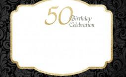 007 Unique Surprise 50th Birthday Invitation Template Word Free Concept