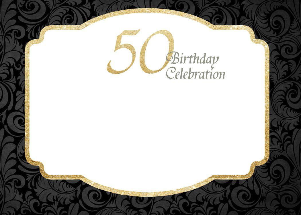 007 Unique Surprise 50th Birthday Invitation Template Word Free Concept Full