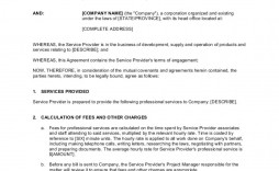 007 Unique Term Of Agreement Template Sample  Service Contract Busines Uk