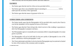 007 Unique Wedding Photographer Contract Template Free High Resolution  Simple Photography Word