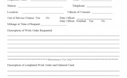 007 Unique Work Order Form Template Sample  Templates Excel Advertising Company Blank