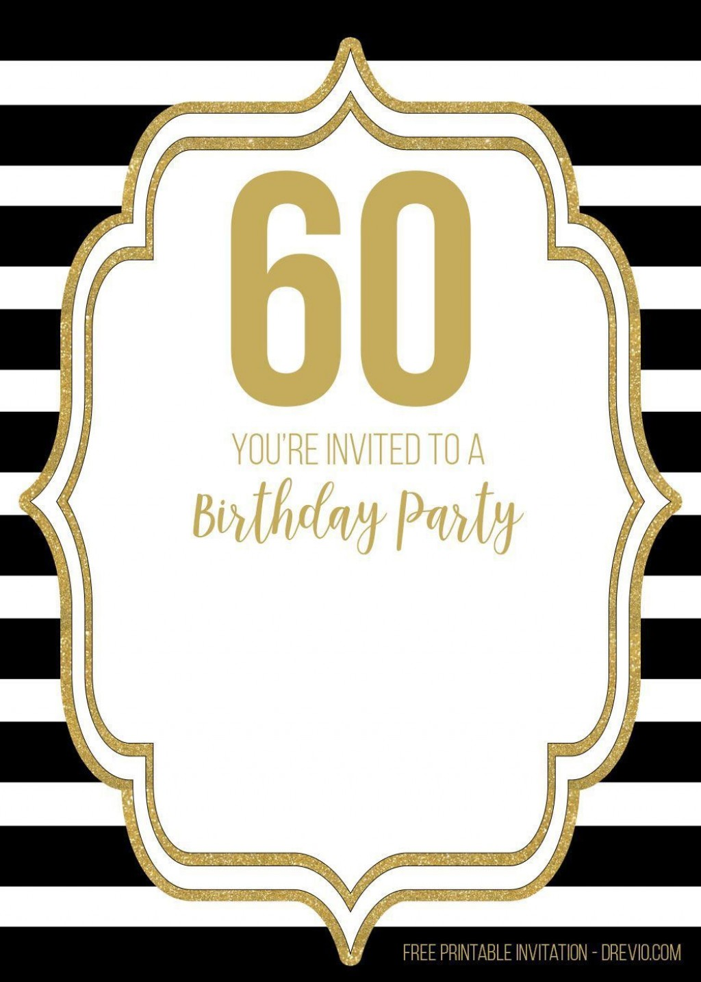 007 Unusual 60 Birthday Invite Template High Definition  Templates 60th Printable FreeLarge