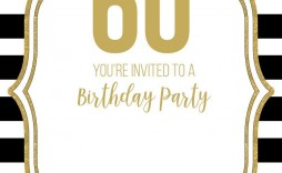007 Unusual 60 Birthday Invite Template High Definition  Templates 60th Printable Free