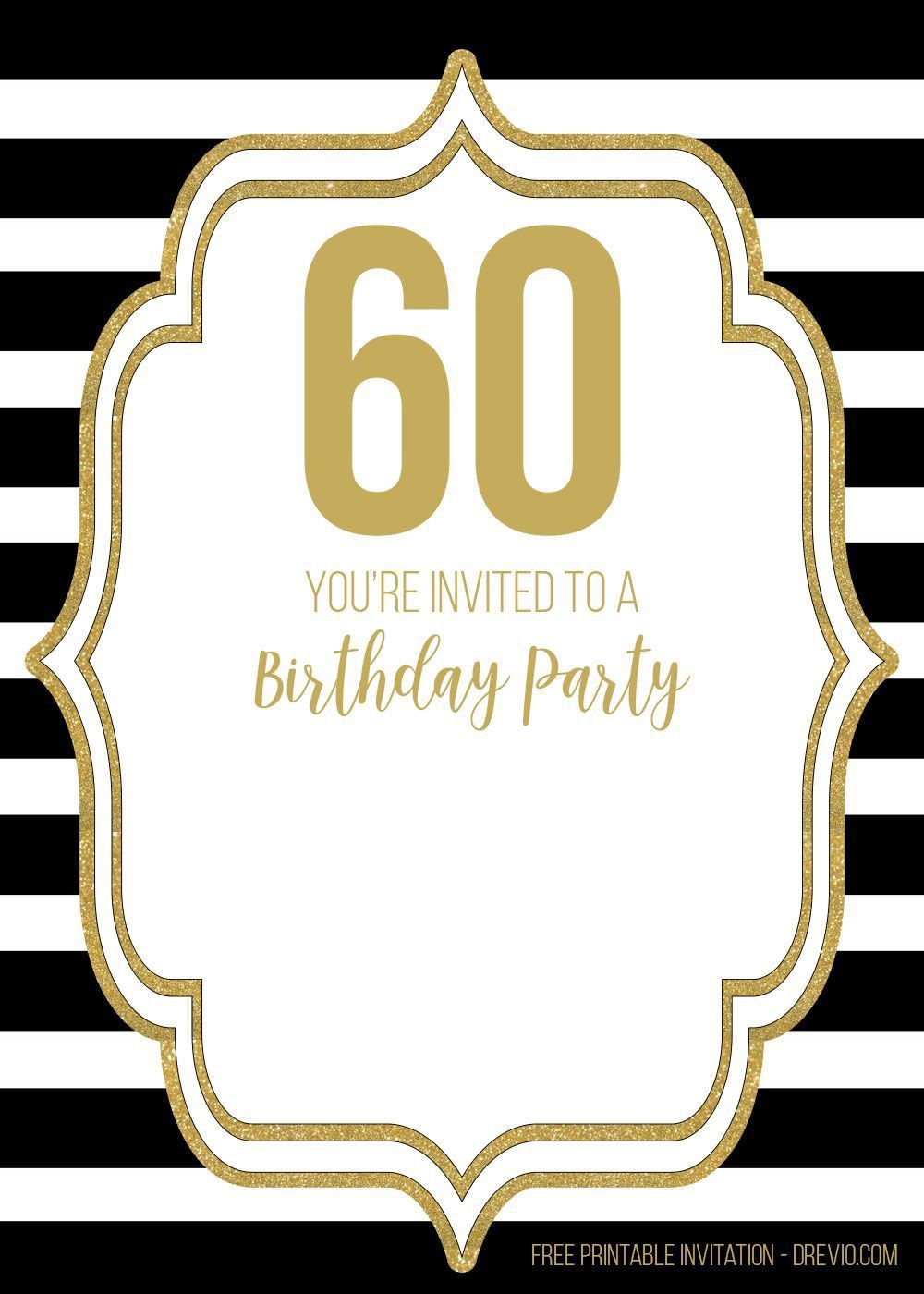 007 Unusual 60 Birthday Invite Template High Definition  Templates 60th Printable FreeFull