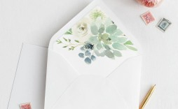 007 Unusual A7 Square Flap Envelope Liner Template High Definition