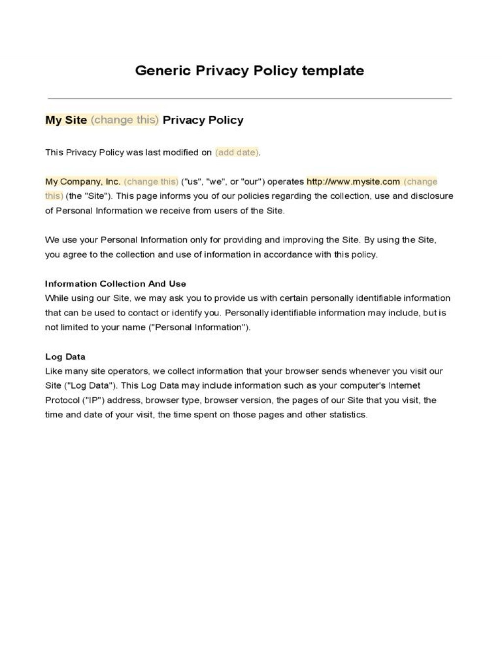 007 Unusual Company Privacy Policy Template Highest Clarity  For Software AustraliaLarge