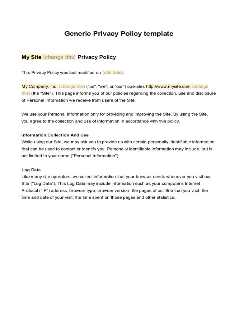 007 Unusual Company Privacy Policy Template Highest Clarity  For Software AustraliaFull