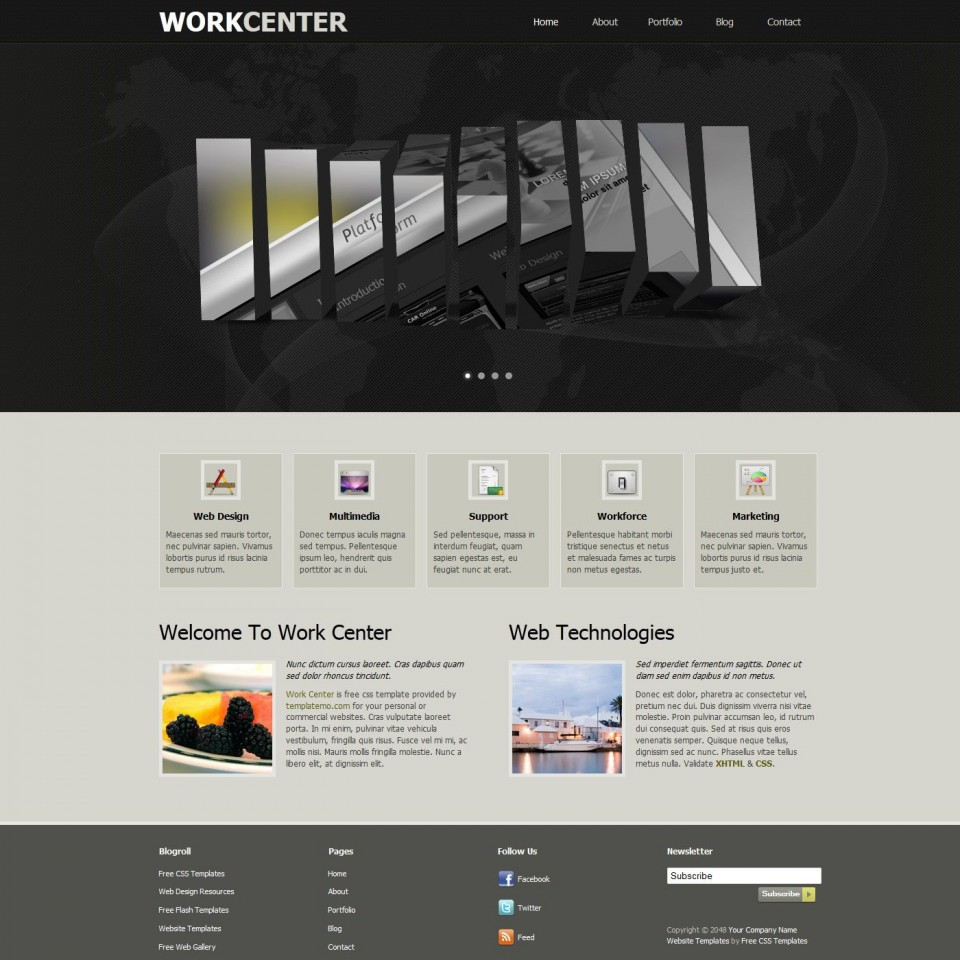 007 Unusual Free Dreamweaver Website Template Inspiration  Adobe Download New960