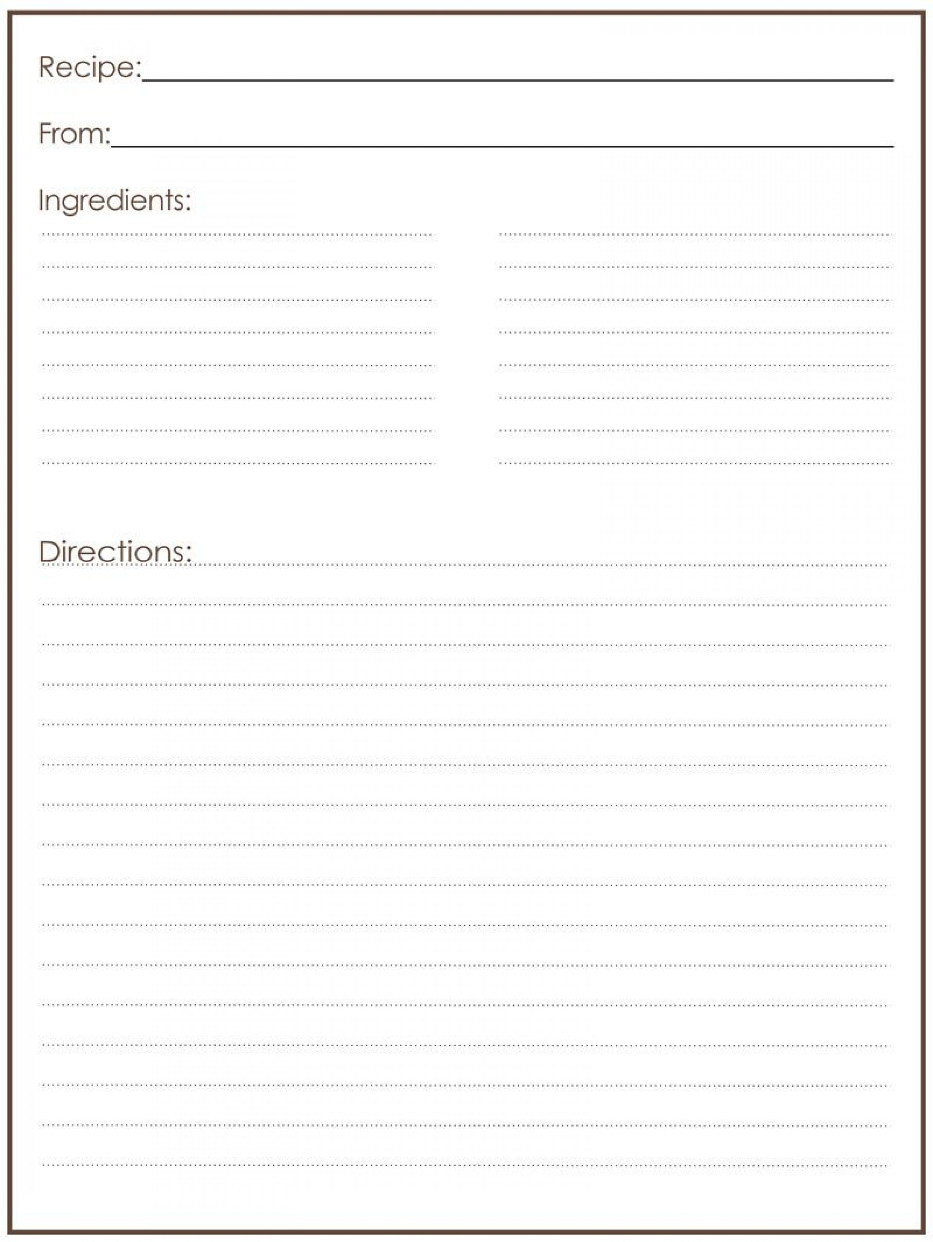 007 Unusual Free Recipe Template For Word High Resolution  Book Editable Card Microsoft 4x6 Page1920