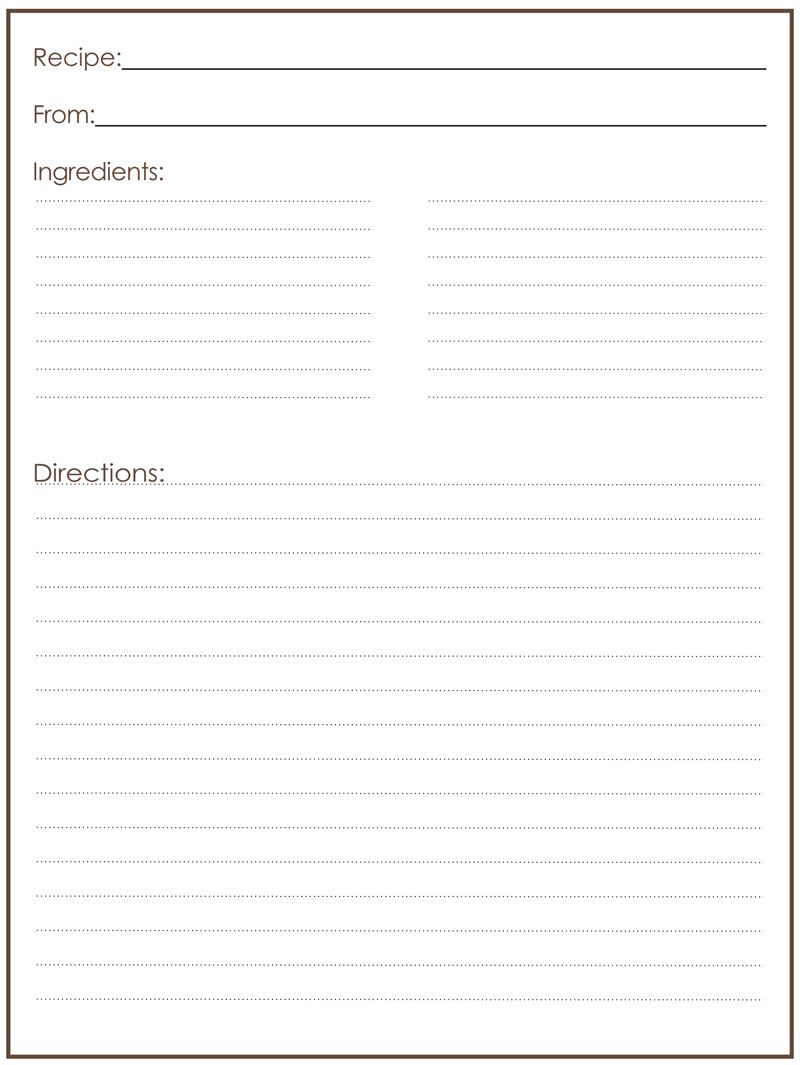 007 Unusual Free Recipe Template For Word High Resolution  Editable Page BookFull