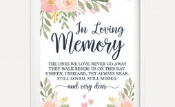 007 Unusual In Loving Memory Template Highest Quality  Bookmark Free Download Meme
