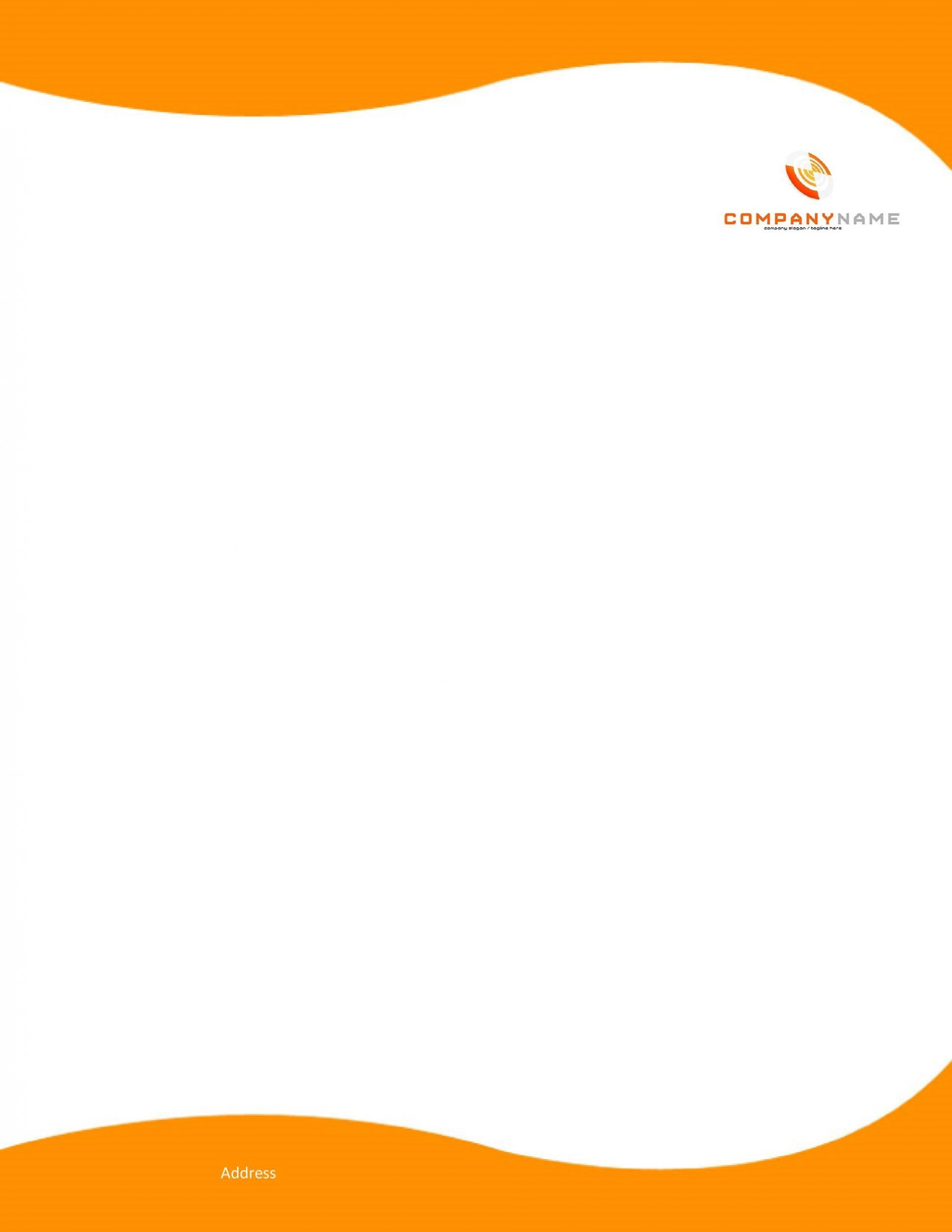 007 Unusual Letterhead Sample In Word Format Free Download Highest Quality  Design Template Psd1920