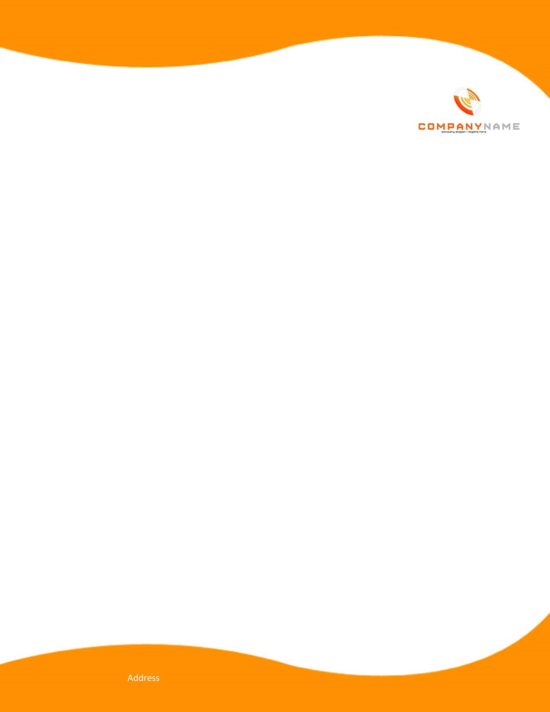007 Unusual Letterhead Sample In Word Format Free Download Highest Quality  Design Template PsdFull