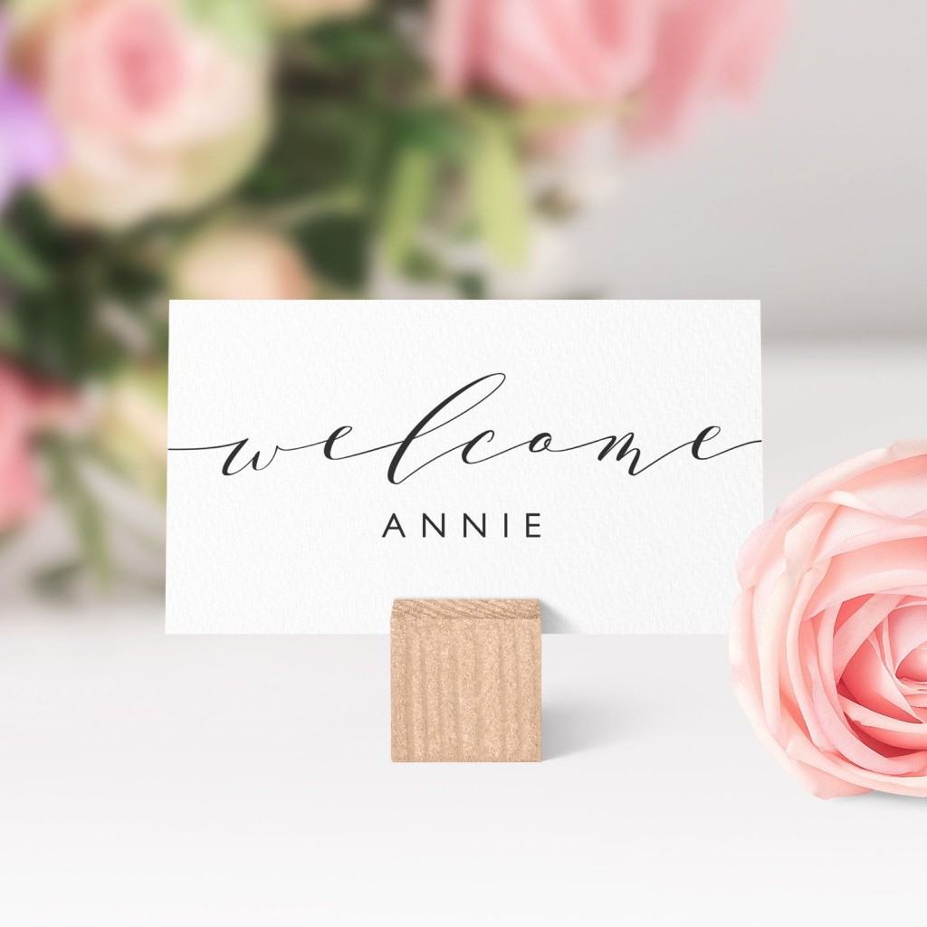 007 Unusual Name Place Card Template For Wedding Example  Free WordLarge