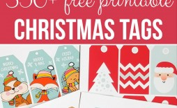007 Unusual Printable Christma Gift Tag Template Example  Templates Free Holiday For Word