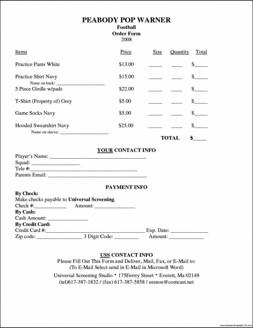 007 Unusual Shirt Order Form Template Concept  T Free Pdf