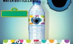 007 Unusual Water Bottle Label Template Free Image  Word Superhero Photoshop