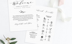 007 Unusual Wedding Guest Welcome Letter Template Example