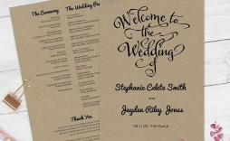 007 Unusual Wedding Program Fan Template Example  Free Word Paddle Downloadable That Can Be Printed