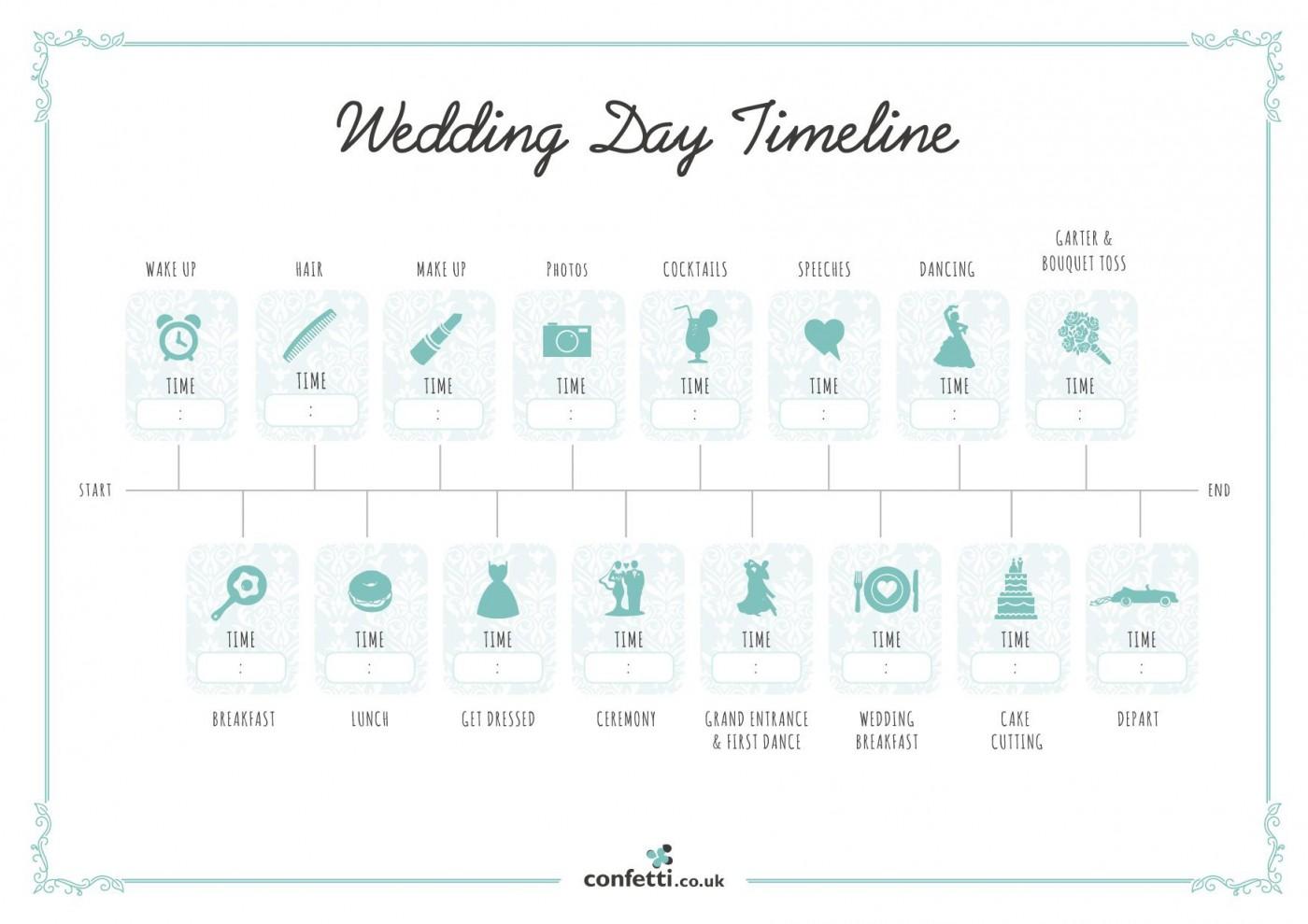 007 Unusual Wedding Timeline Template Free High Resolution  Day Excel Program1400