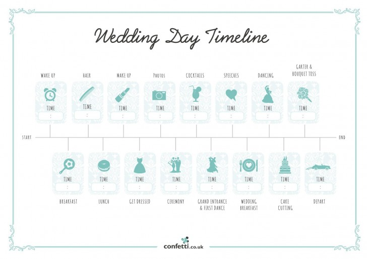 007 Unusual Wedding Timeline Template Free High Resolution  Day Excel Program728