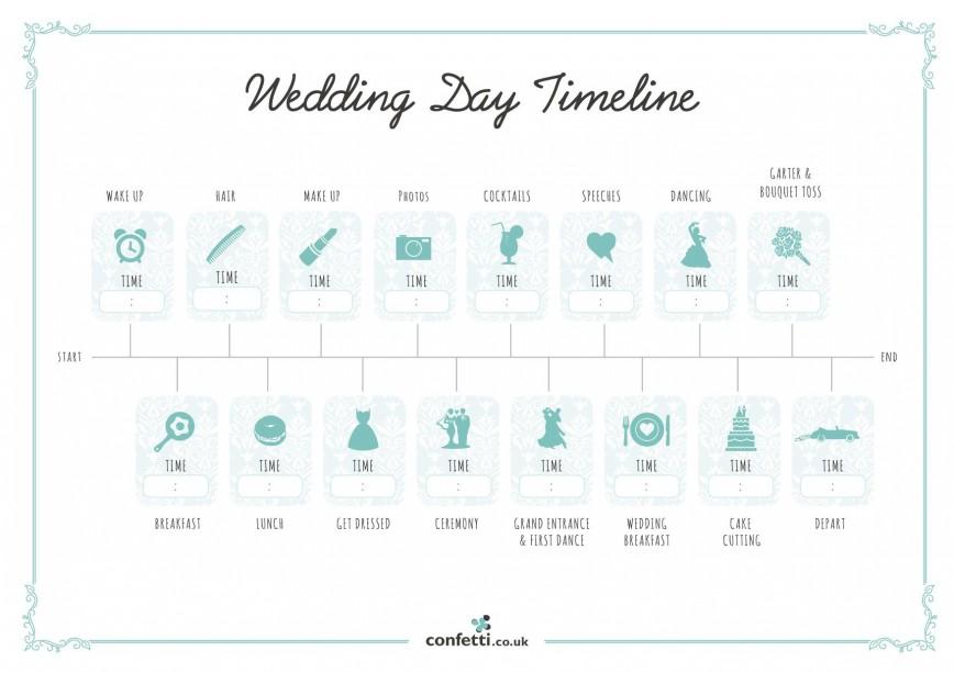 007 Unusual Wedding Timeline Template Free High Resolution  Day Excel Program868