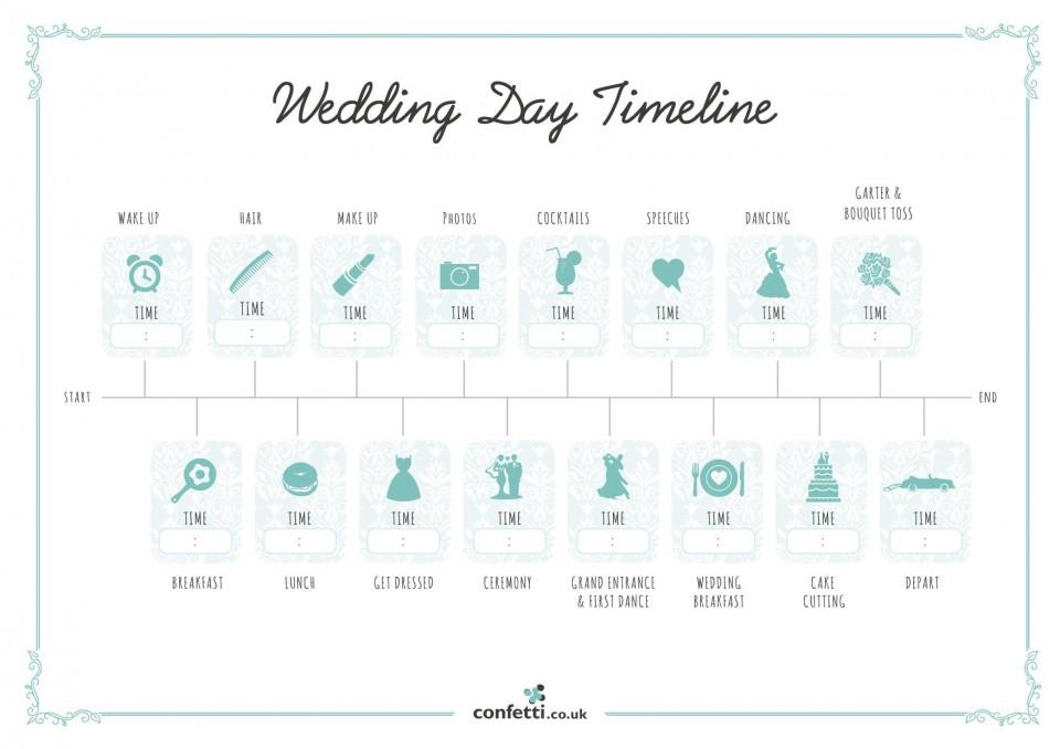 007 Unusual Wedding Timeline Template Free High Resolution  Day Excel Program960