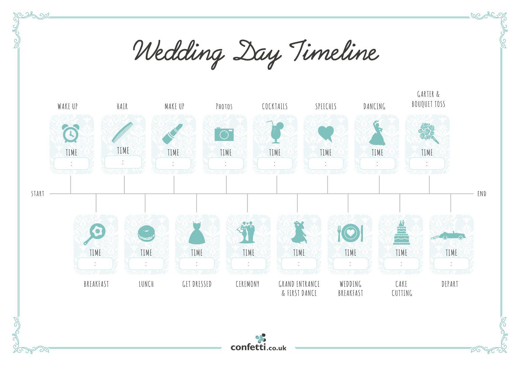 007 Unusual Wedding Timeline Template Free High Resolution  Day Excel ProgramFull