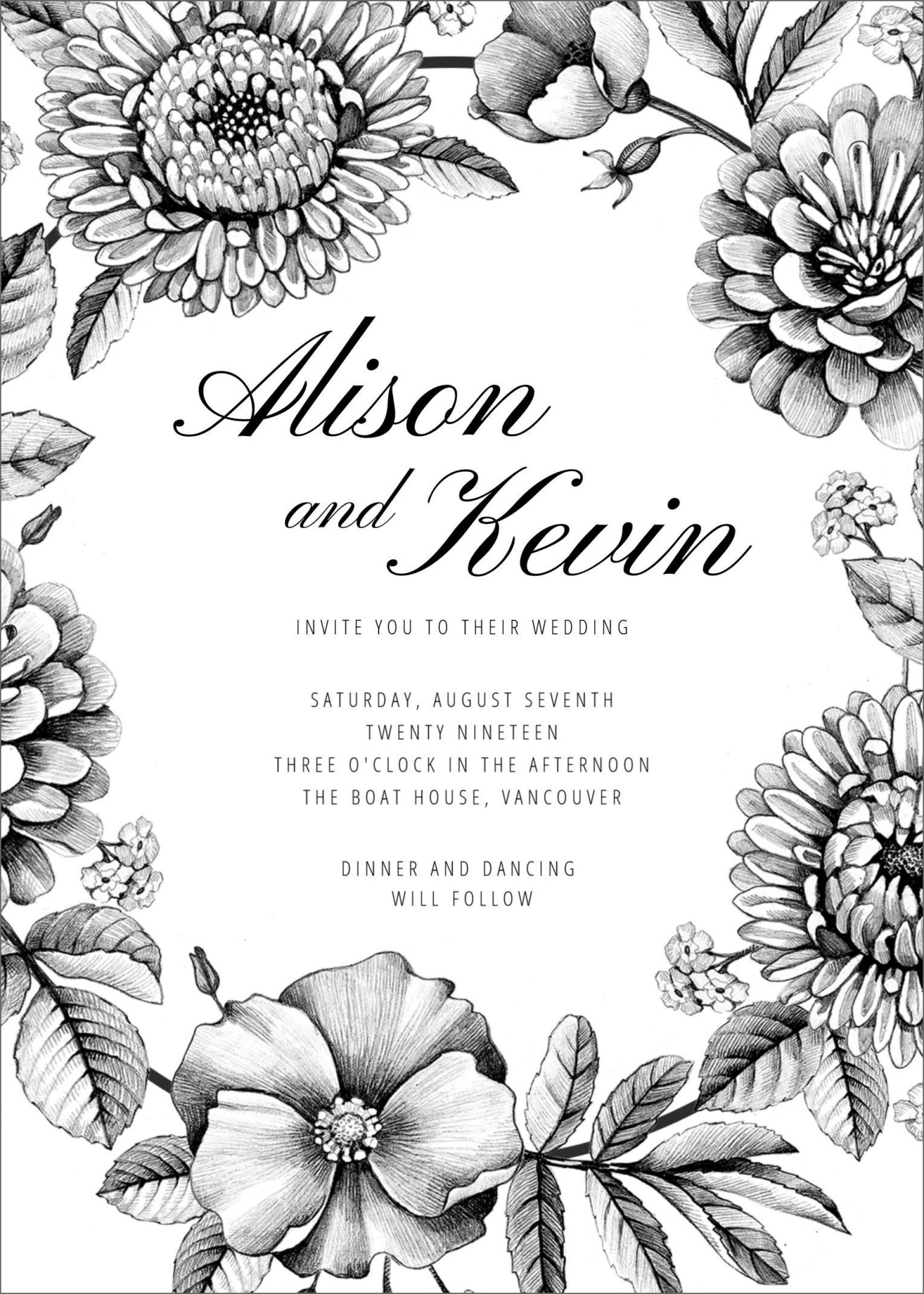 007 Wonderful Blank Wedding Invitation Template Idea  Templates Free Download Printable Royal Blue1920