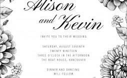 007 Wonderful Blank Wedding Invitation Template Idea  Templates Free Download Printable Royal Blue