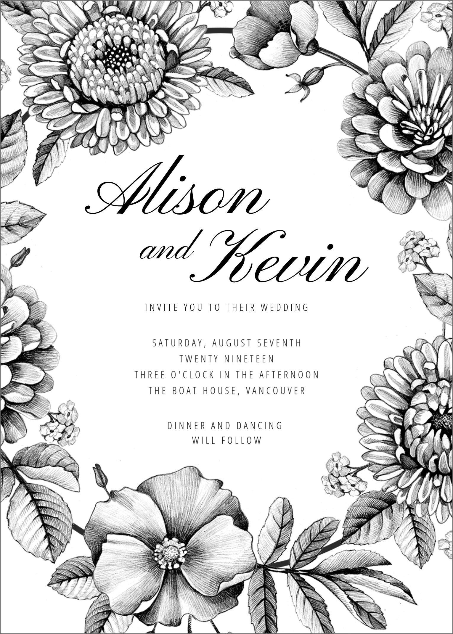007 Wonderful Blank Wedding Invitation Template Idea  Templates Free Download Printable Royal BlueFull
