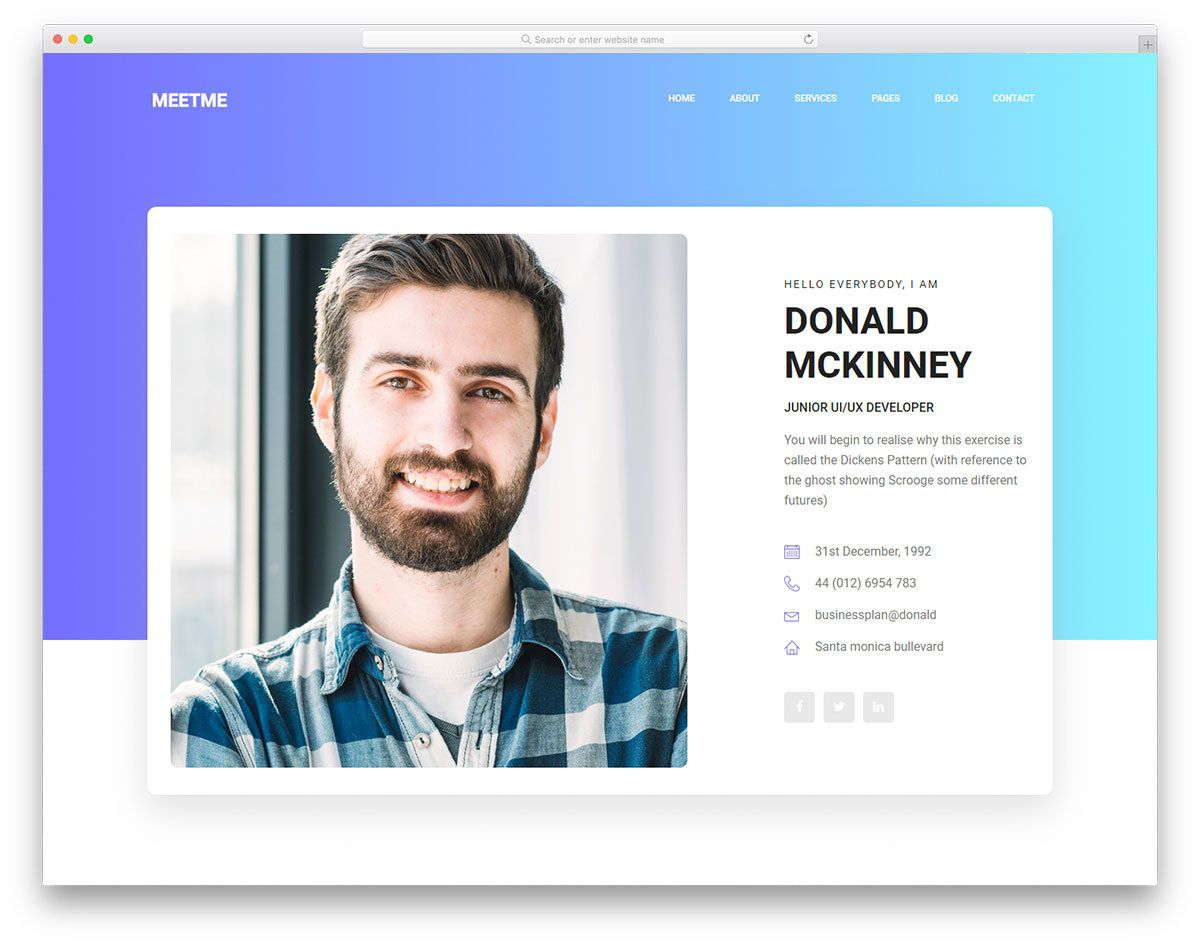 007 Wonderful Bootstrap Portfolio Template Free Highest Clarity  Download Website 4Full