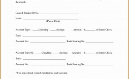 007 Wonderful Direct Deposit Agreement Authorization Form Template High Resolution