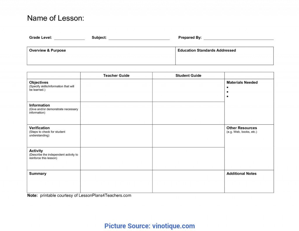 007 Wonderful Elementary School Lesson Plan Template High Definition  Format Science TeacherLarge