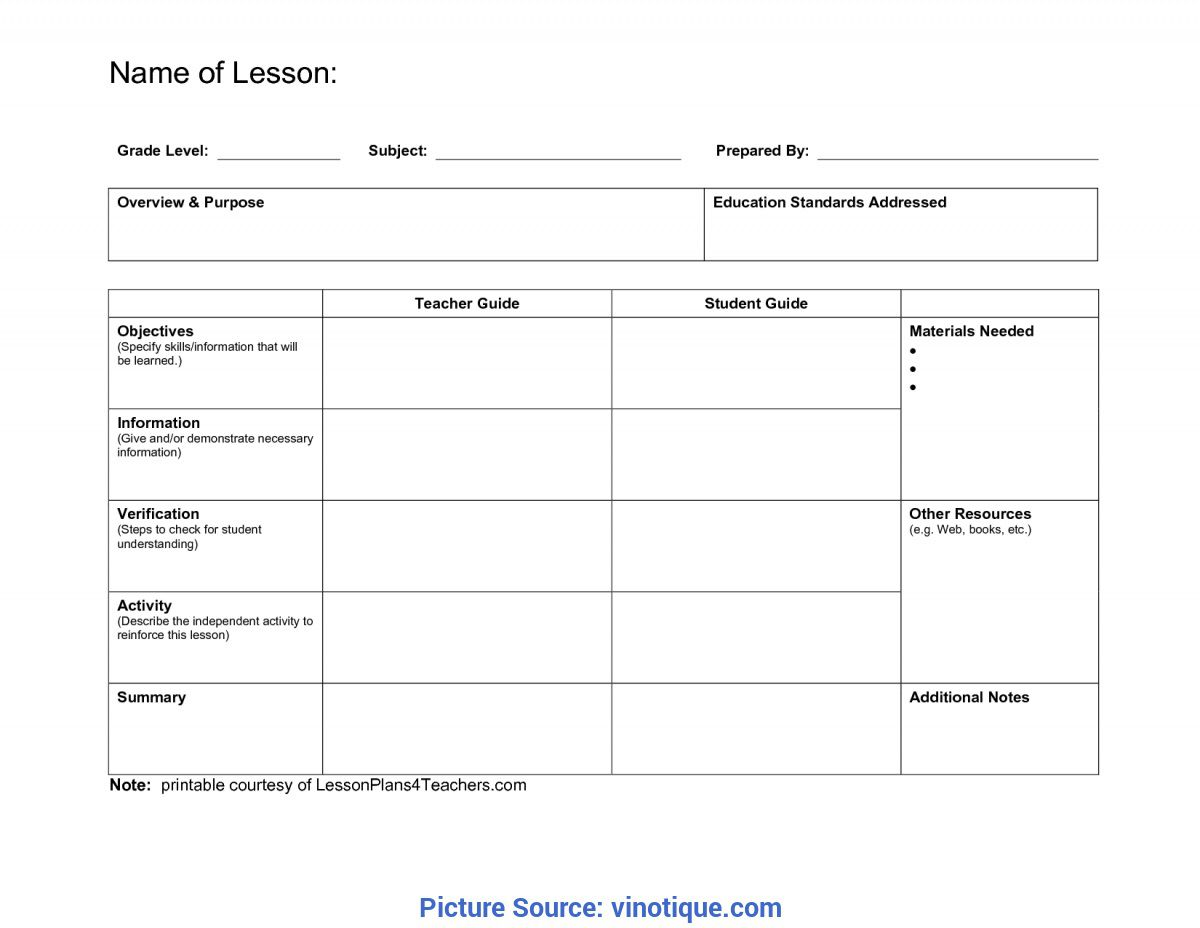 007 Wonderful Elementary School Lesson Plan Template High Definition  Format Science TeacherFull