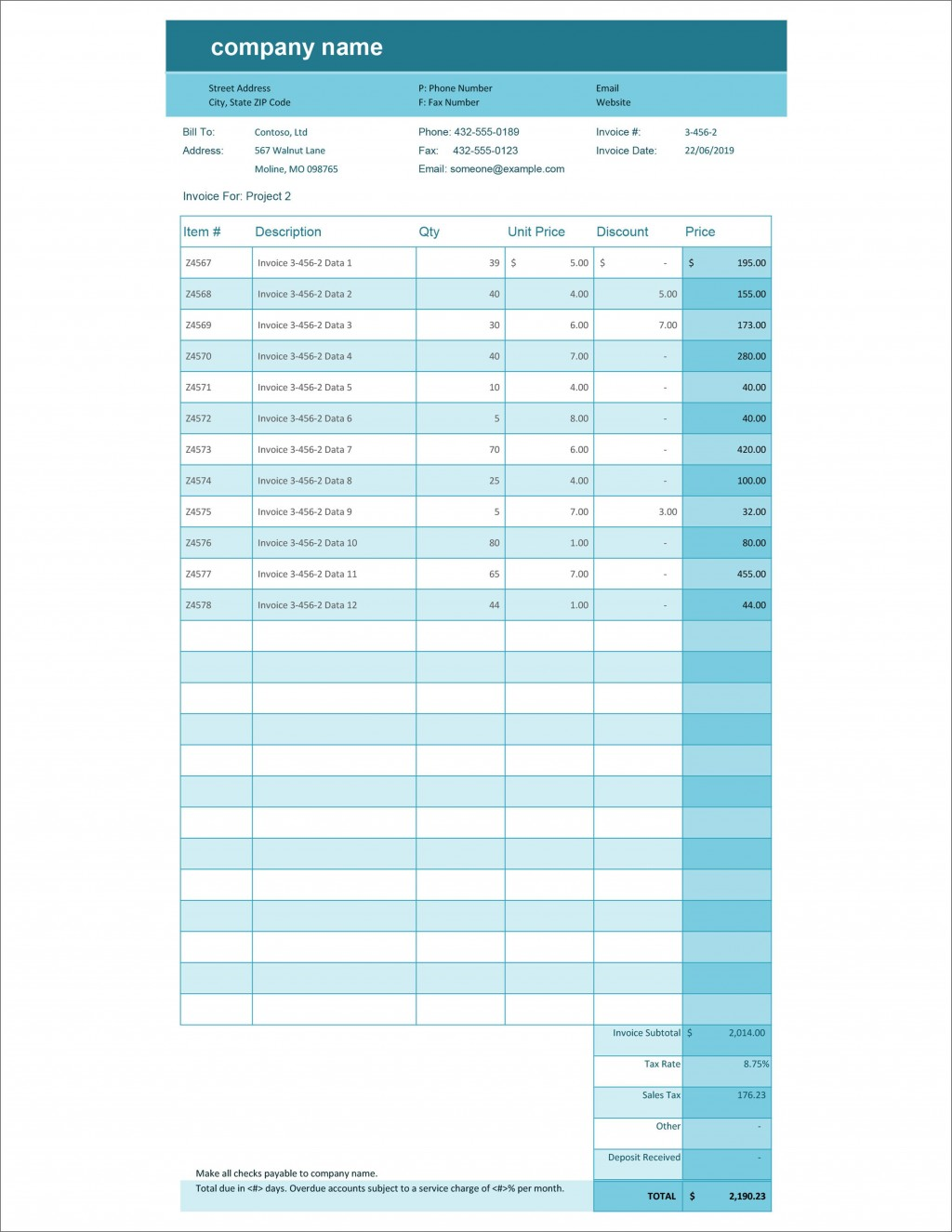 007 Wonderful Excel Invoice Tracking Template Download Sample Large