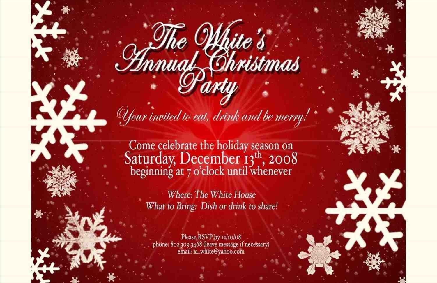 007 Wonderful Free Email Holiday Party Invitation Template High Resolution  Templates ChristmaFull