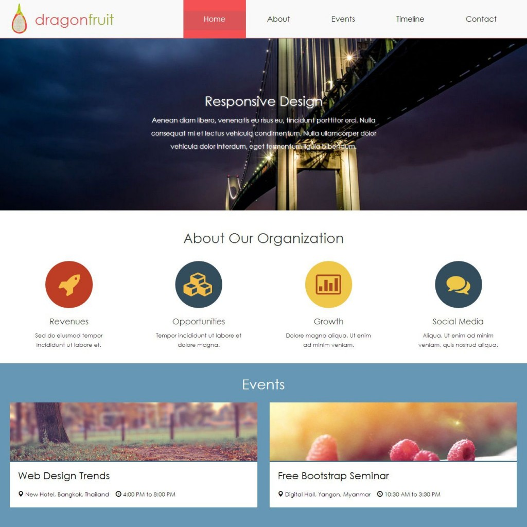 007 Wonderful Free Html5 Web Template Inspiration  Responsive With Navigation Css3 BootstrapLarge