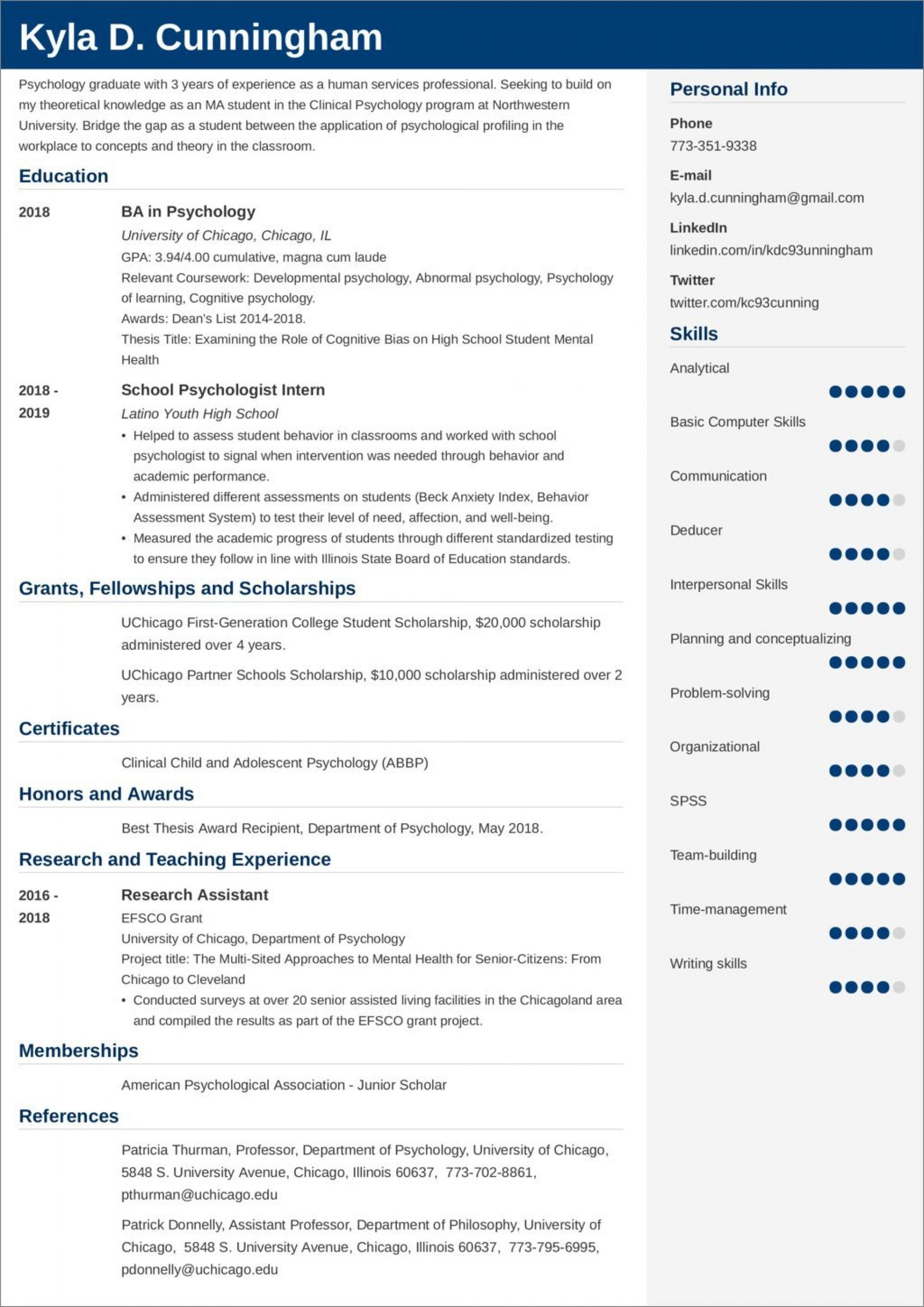 007 Wonderful Graduate School Resume Template Idea  Word Free1920