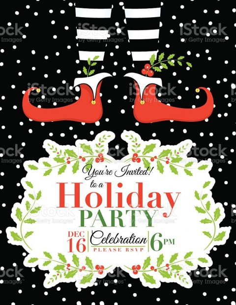 007 Wonderful Holiday Party Invitation Template Free Example  Elegant Christma Download Dinner Printable Australia480