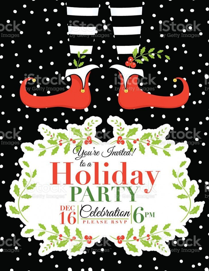 007 Wonderful Holiday Party Invitation Template Free Example  Elegant Christma Download Dinner Printable Australia728