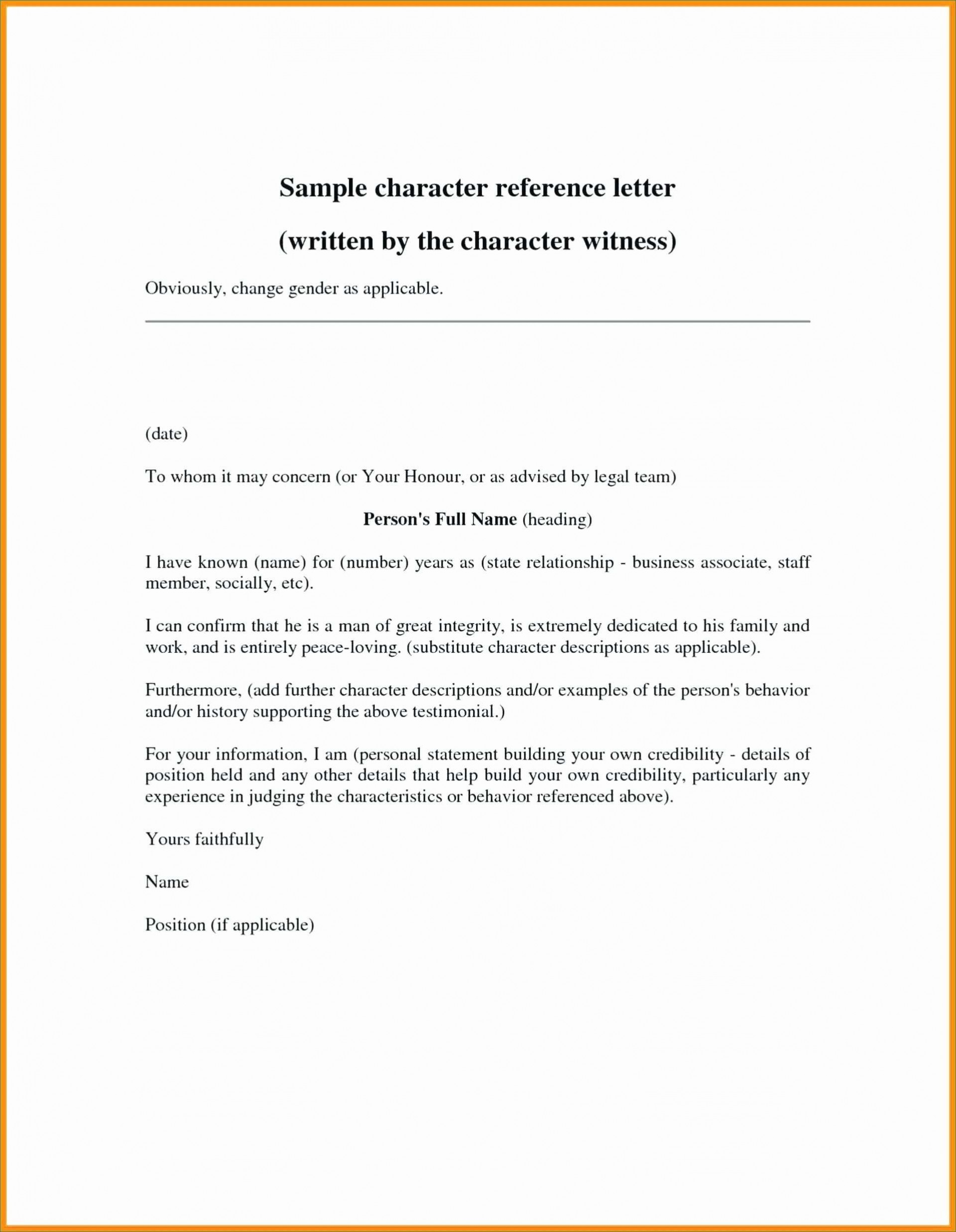 007 Wonderful Professional Reference Letter Template Word Highest Clarity 1920