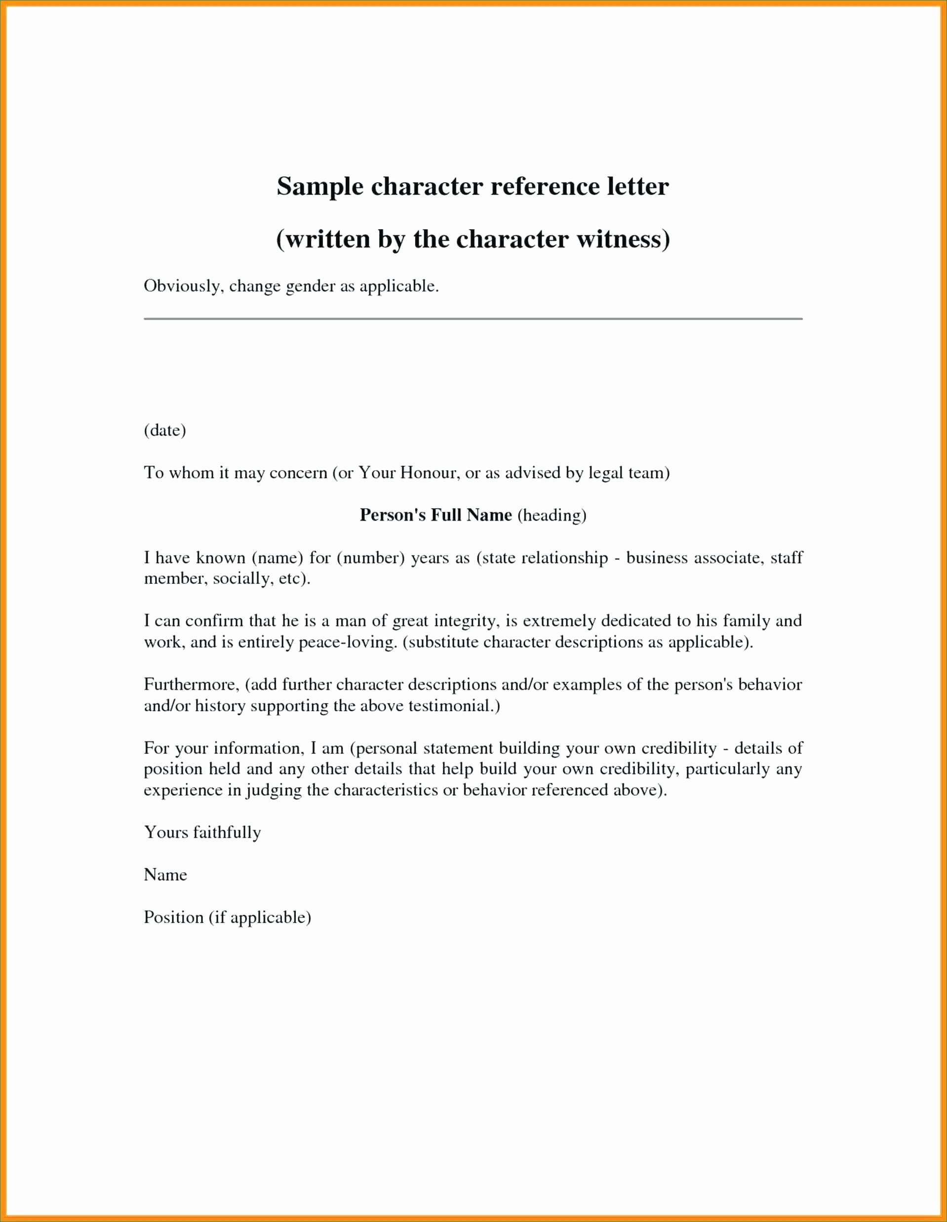 007 Wonderful Professional Reference Letter Template Word Highest Clarity Full
