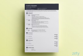 007 Wonderful Single Page Resume Template Idea  Cascade One Free Download Word For Fresher
