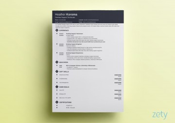 007 Wonderful Single Page Resume Template Idea  Cascade One Free Download Word For Fresher360