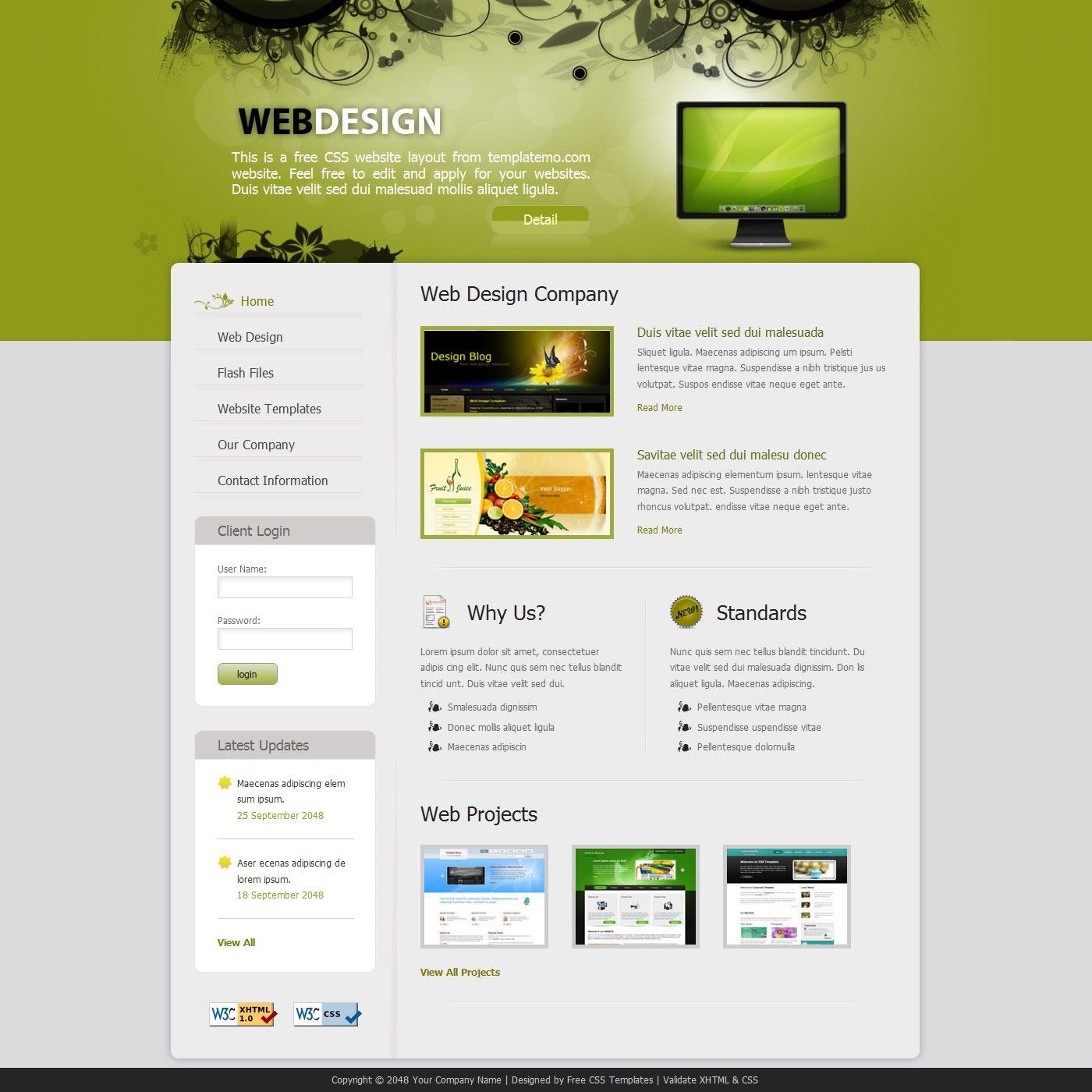 007 Wonderful Website Design Template Free Picture  Asp.net Web Download PsdFull
