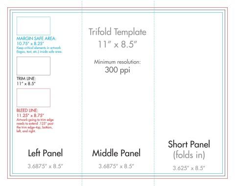 007 Wondrou 3 Fold Brochure Template Concept  For Free480